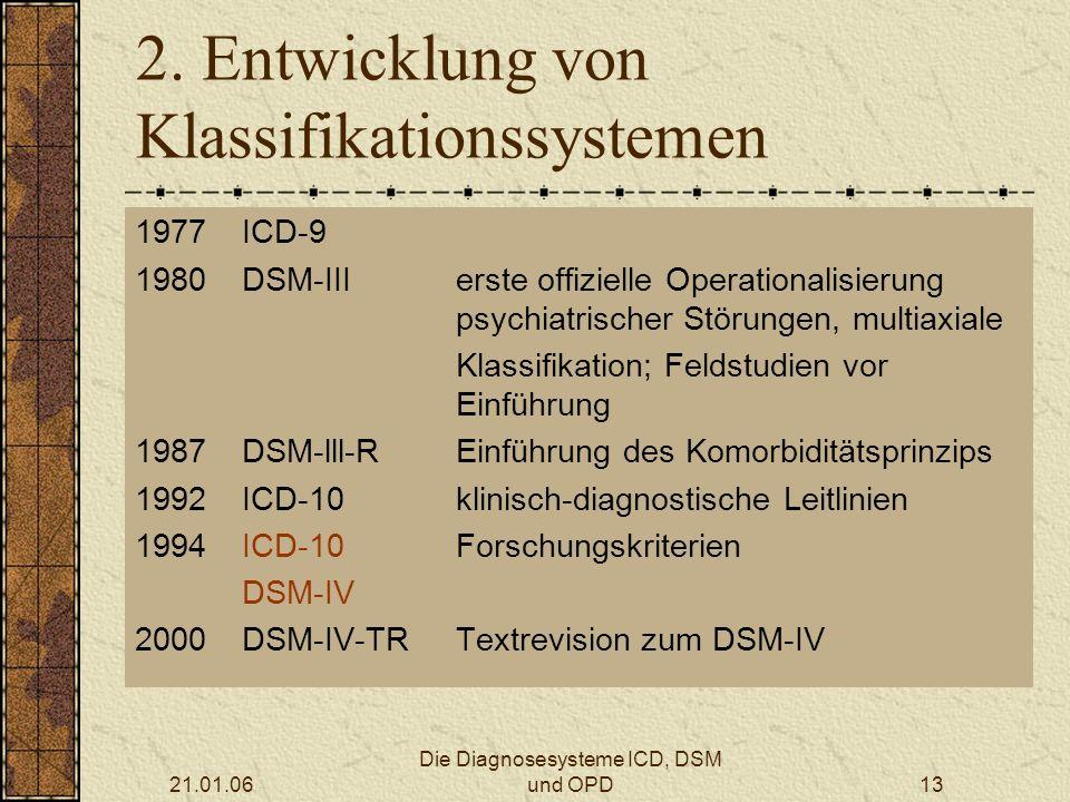 2. Entwicklung von Klassifikationssystemen