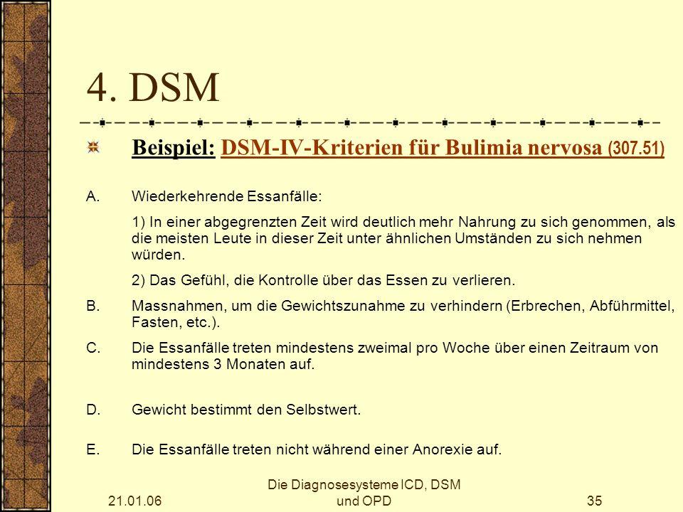 Die Diagnosesysteme ICD, DSM und OPD