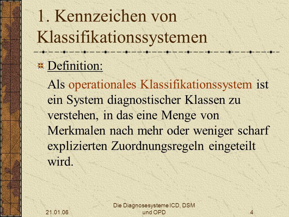 1. Kennzeichen von Klassifikationssystemen