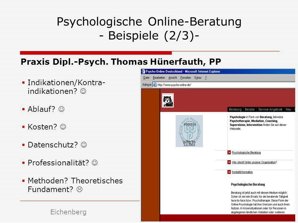 Psychologische Online-Beratung - Beispiele (2/3)-