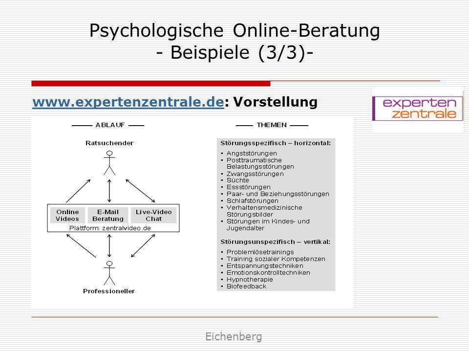 Psychologische Online-Beratung - Beispiele (3/3)-