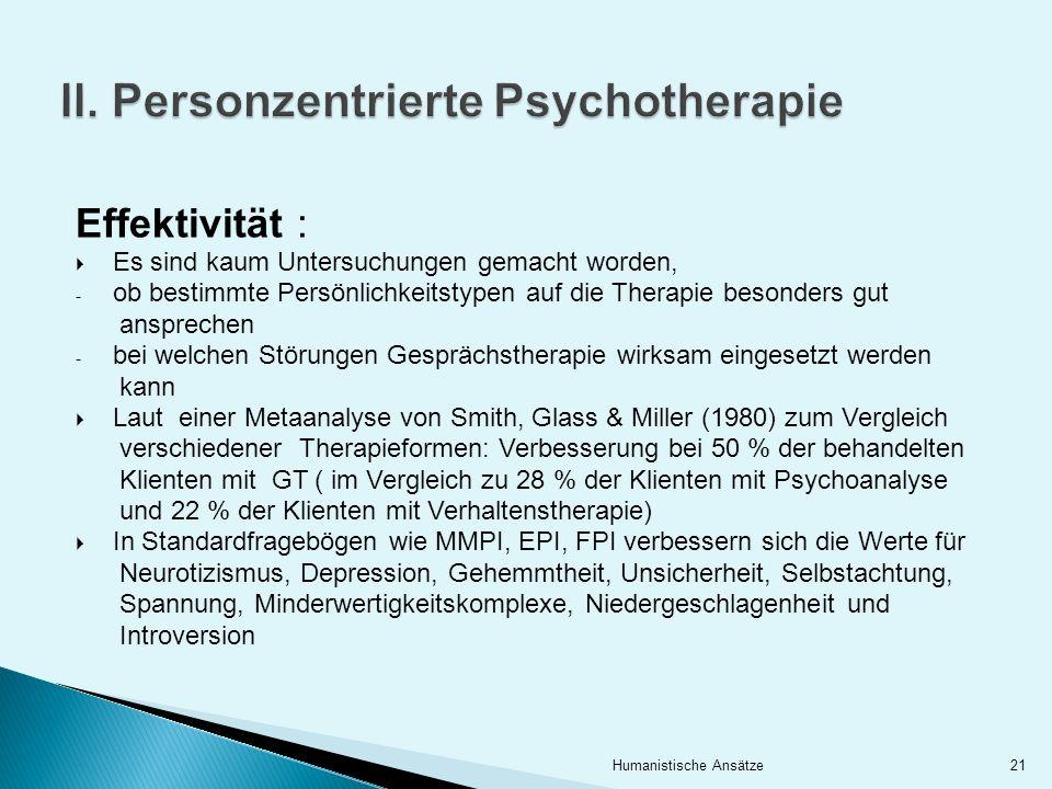 II. Personzentrierte Psychotherapie