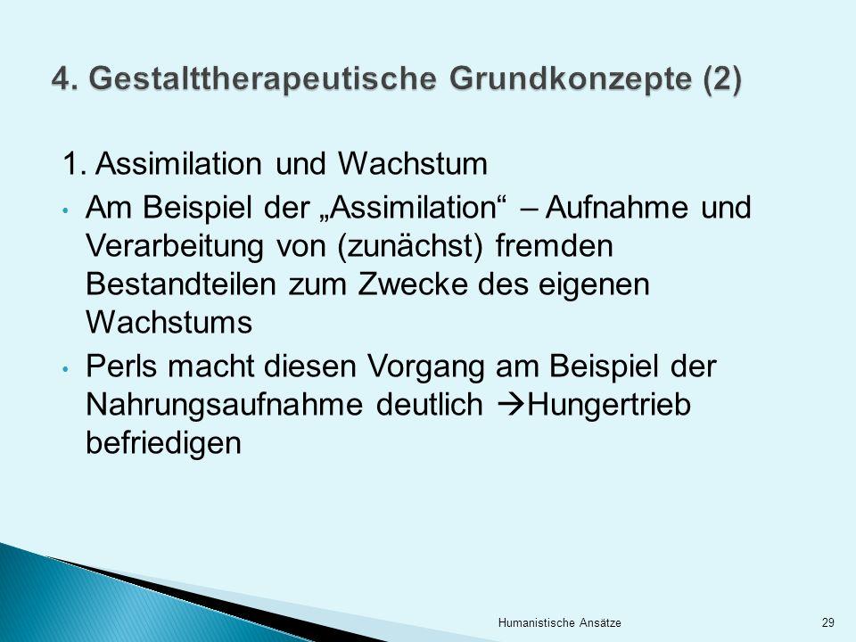 4. Gestalttherapeutische Grundkonzepte (2)