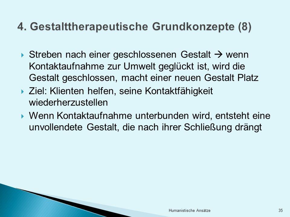 4. Gestalttherapeutische Grundkonzepte (8)