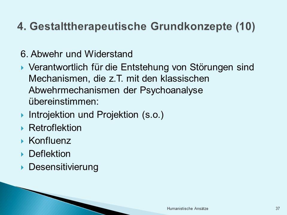 4. Gestalttherapeutische Grundkonzepte (10)