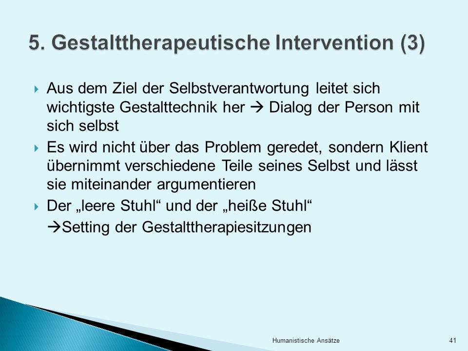 5. Gestalttherapeutische Intervention (3)