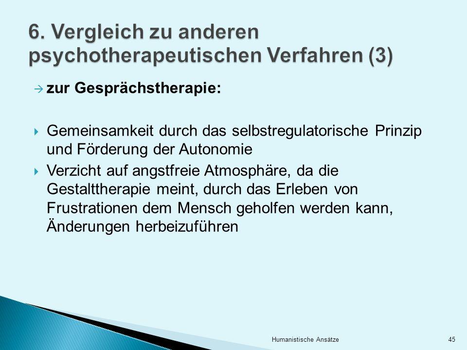 6. Vergleich zu anderen psychotherapeutischen Verfahren (3)