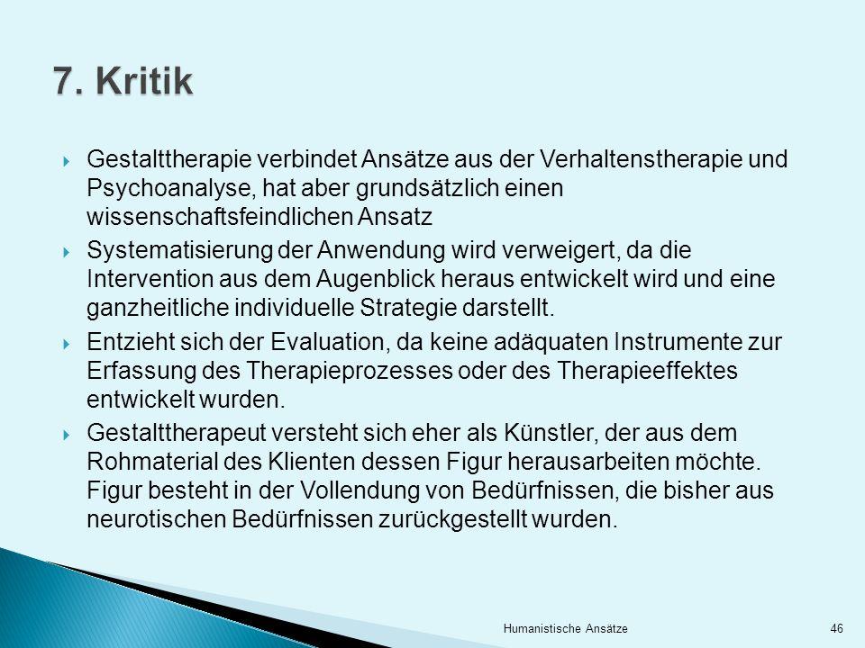 7. Kritik