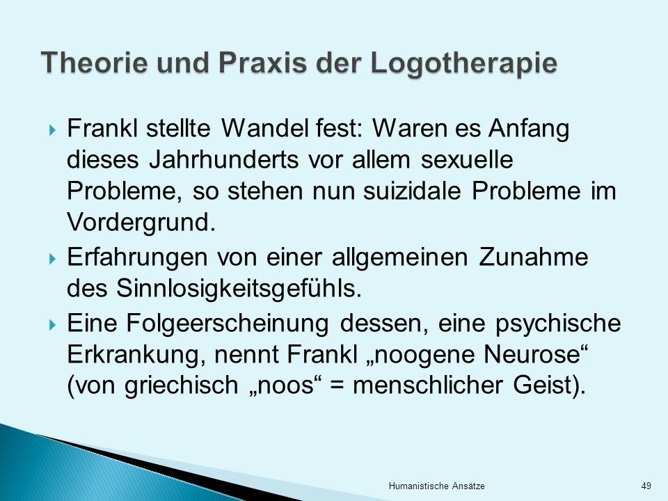 Theorie und Praxis der Logotherapie