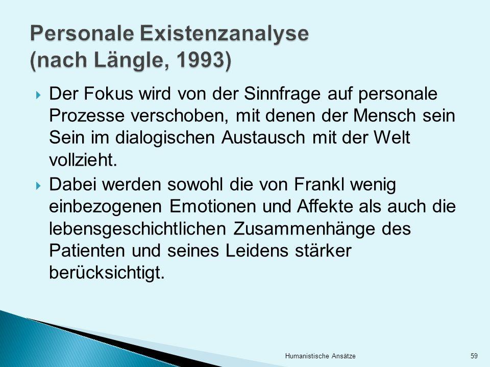Personale Existenzanalyse (nach Längle, 1993)