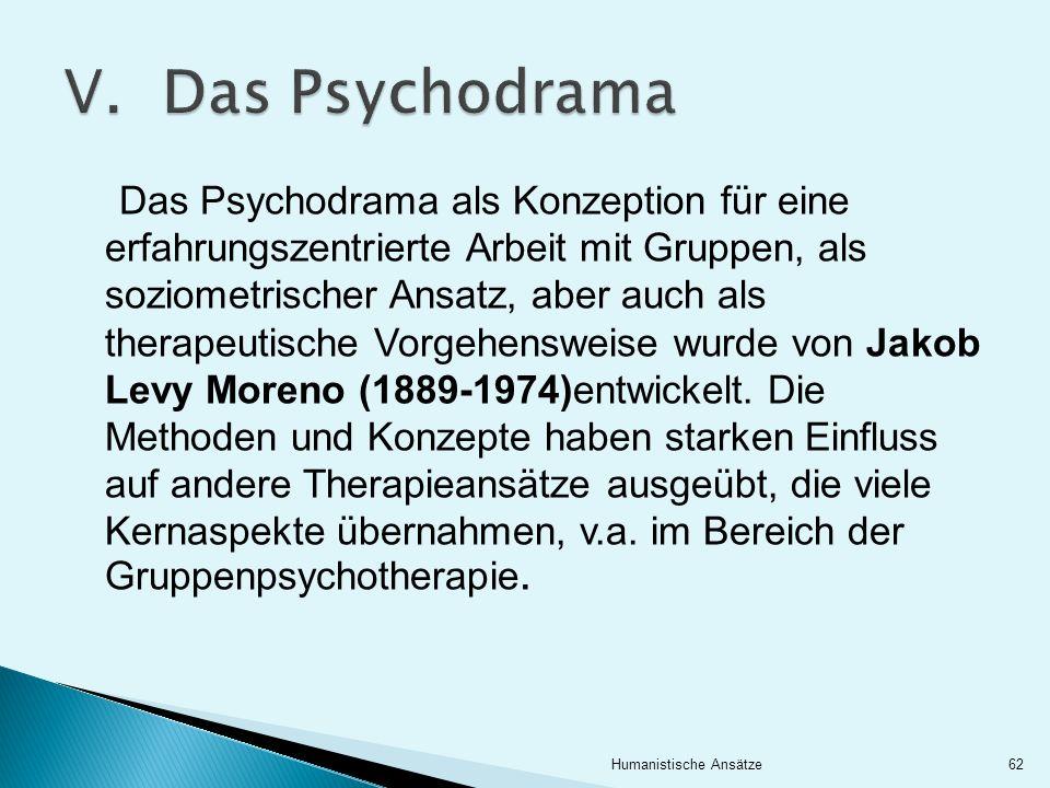 V. Das Psychodrama