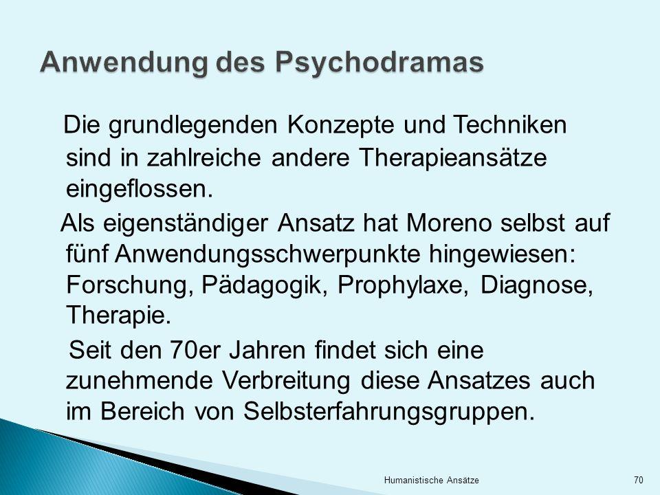 Anwendung des Psychodramas