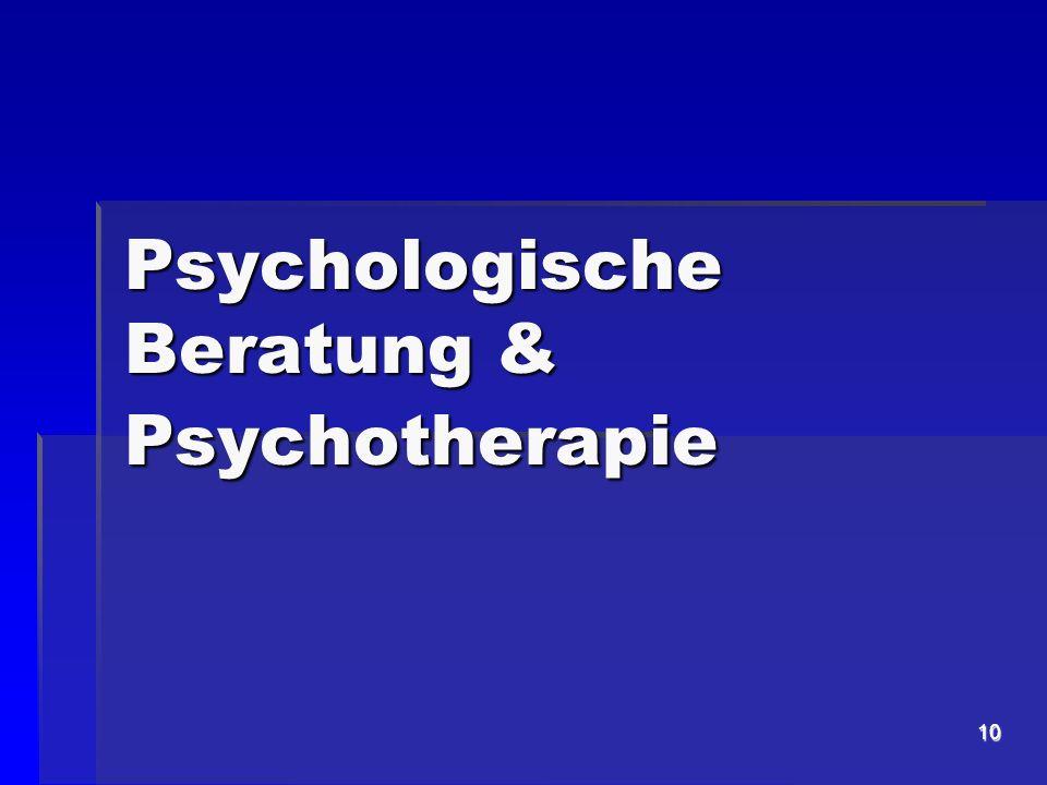 Psychologische Beratung & Psychotherapie