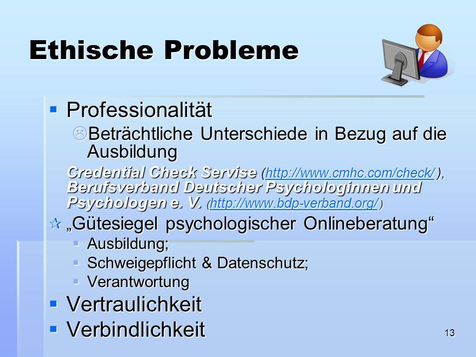 Ethische Probleme Professionalität Vertraulichkeit Verbindlichkeit