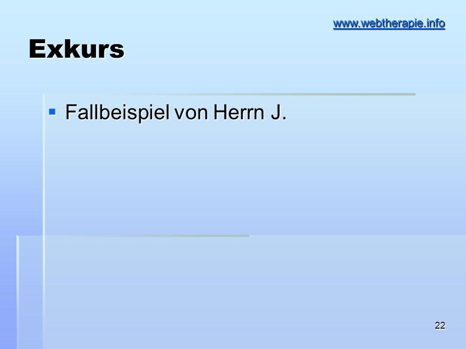 Exkurs www.webtherapie.info Fallbeispiel von Herrn J.