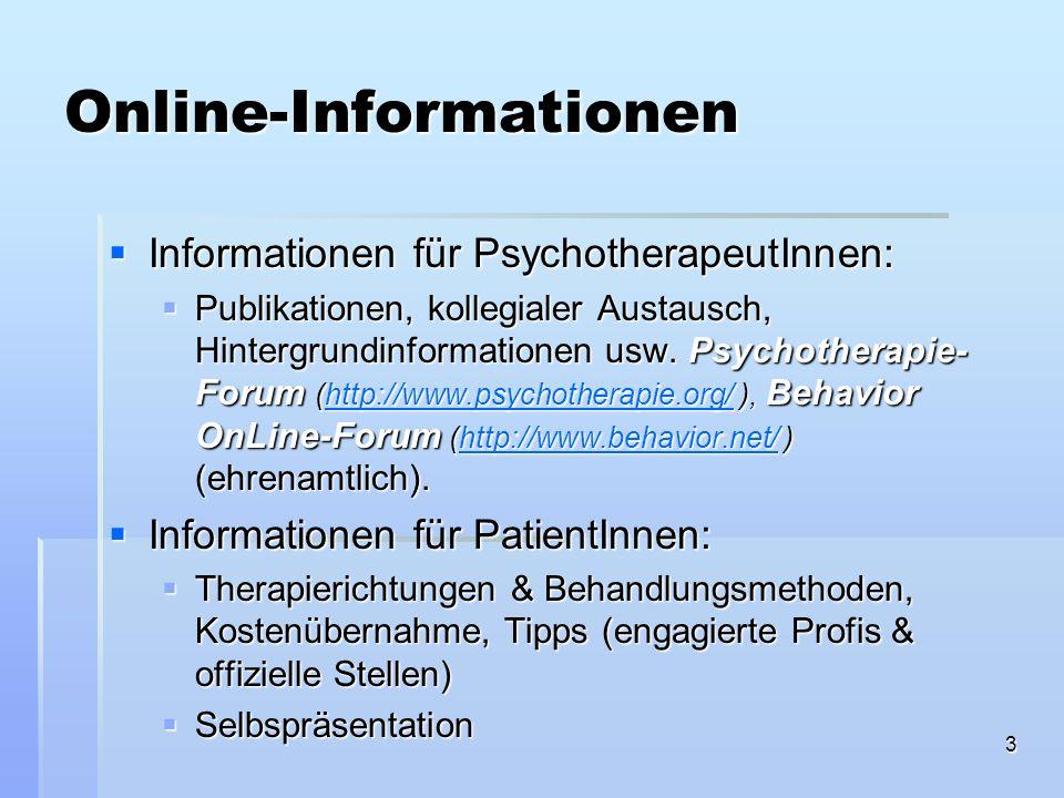 Online-Informationen