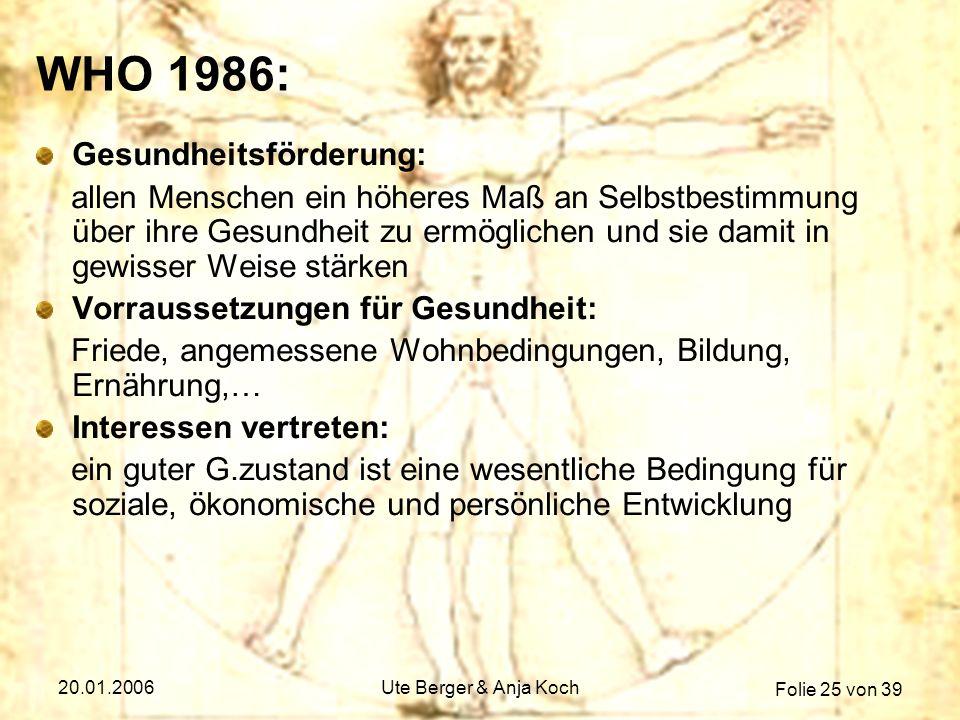 WHO 1986: Gesundheitsförderung: