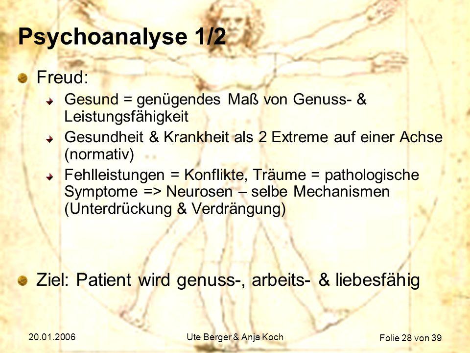 Psychoanalyse 1/2 Freud: