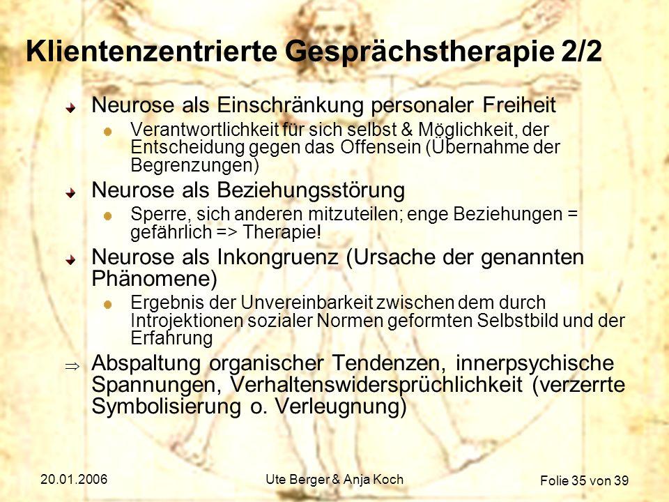 Klientenzentrierte Gesprächstherapie 2/2