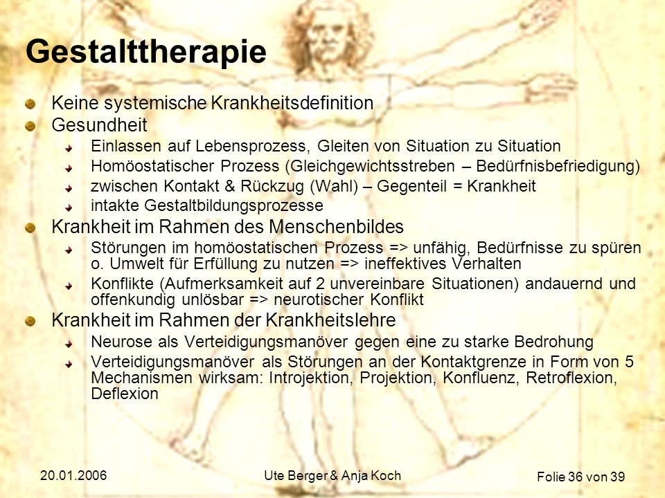Gestalttherapie Keine systemische Krankheitsdefinition Gesundheit
