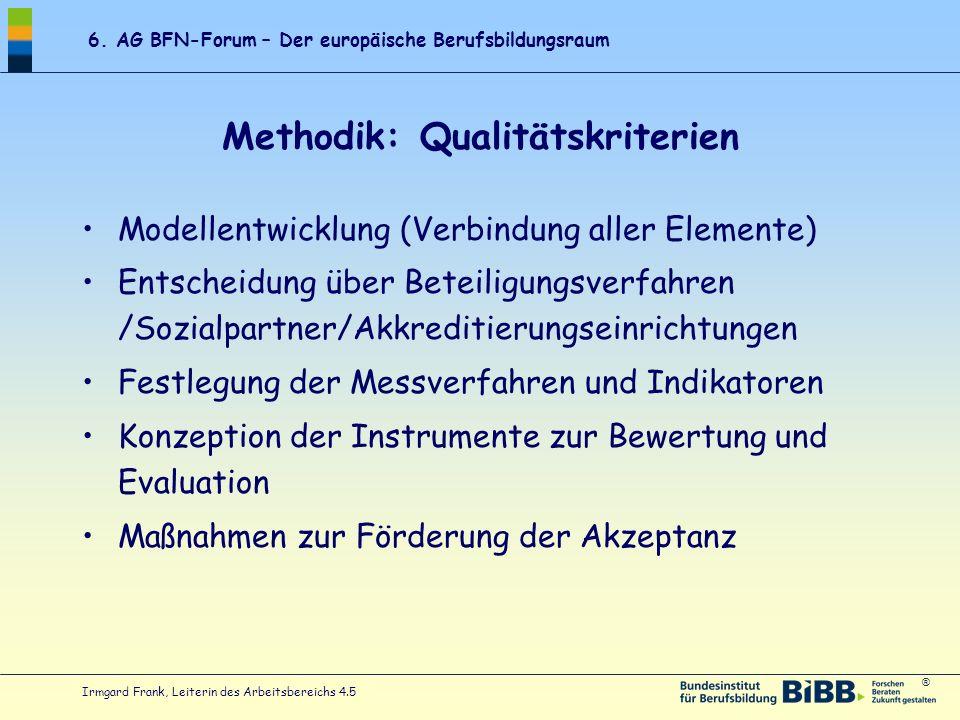 Methodik: Qualitätskriterien