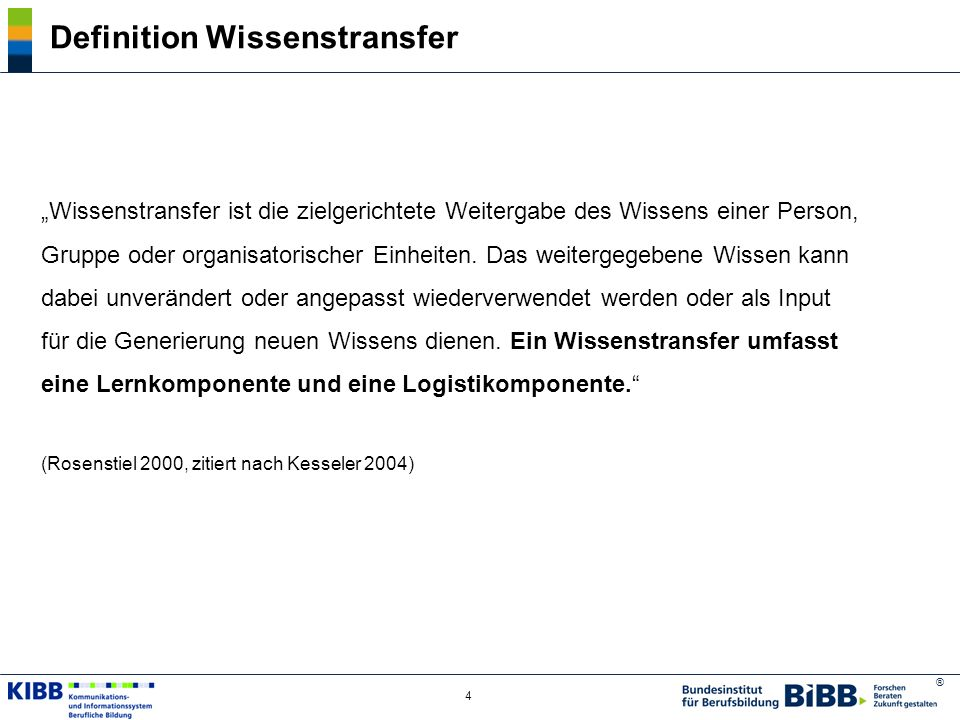 Definition Wissenstransfer