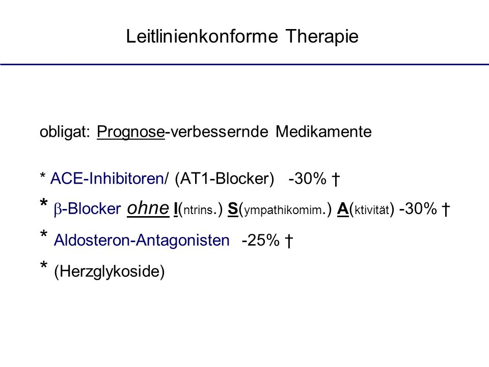 Leitlinienkonforme Therapie