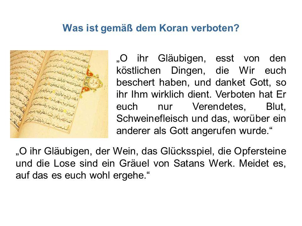 Was ist gemäß dem Koran verboten