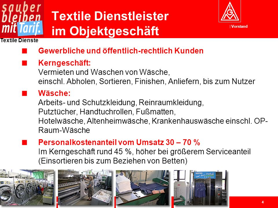 Textile Dienstleister im Objektgeschäft