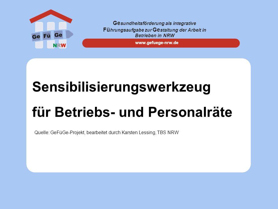 Sensibilisierungswerkzeug für Betriebs- und Personalräte