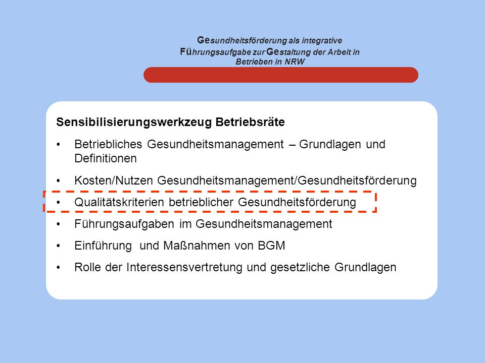 Sensibilisierungswerkzeug Betriebsräte