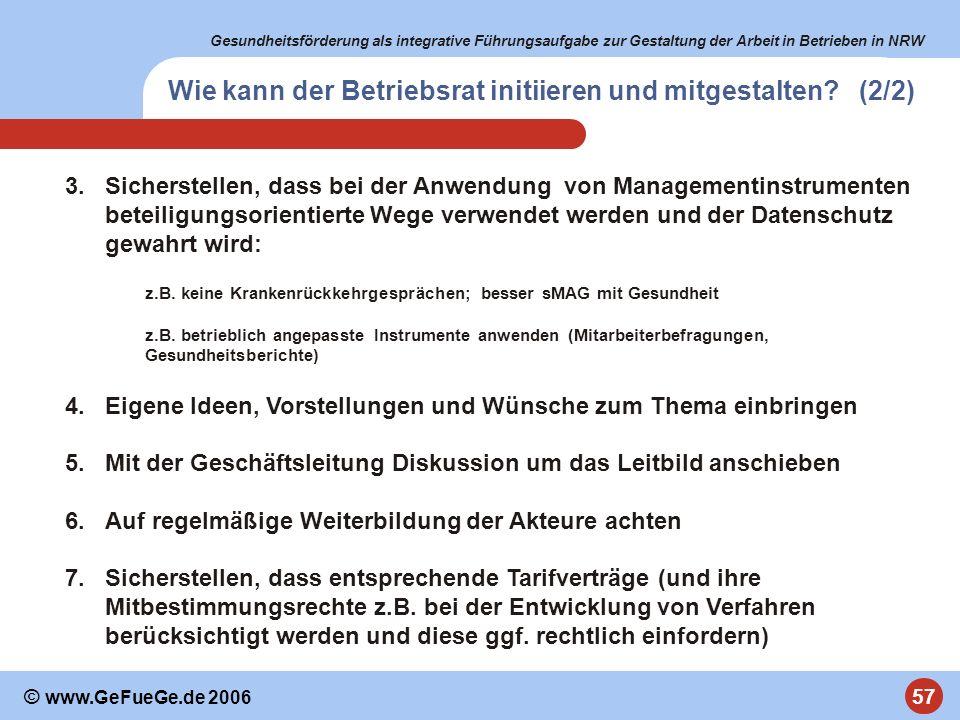 Wie kann der Betriebsrat initiieren und mitgestalten (2/2)