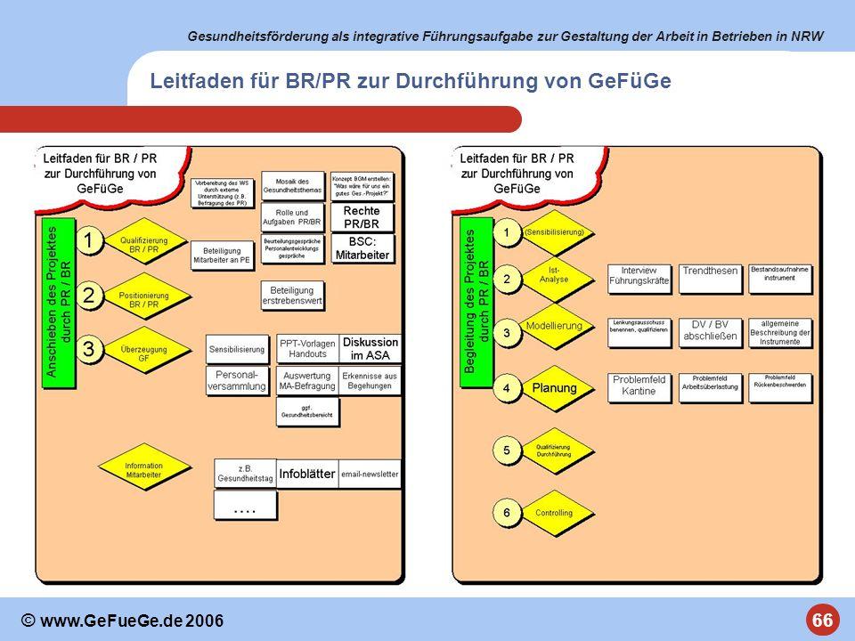 Leitfaden für BR/PR zur Durchführung von GeFüGe