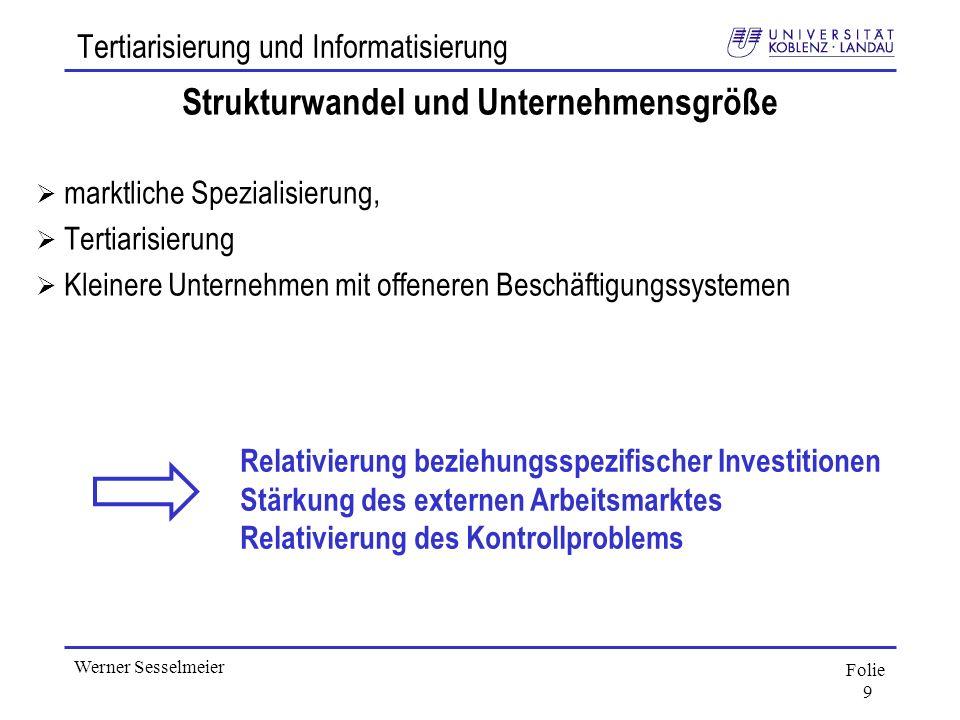 Tertiarisierung und Informatisierung