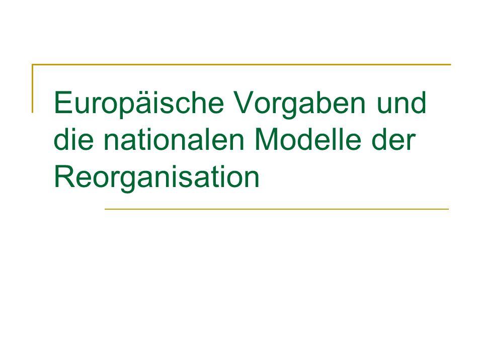 Europäische Vorgaben und die nationalen Modelle der Reorganisation