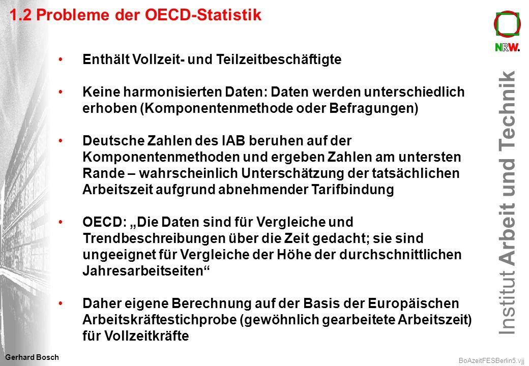 1.2 Probleme der OECD-Statistik
