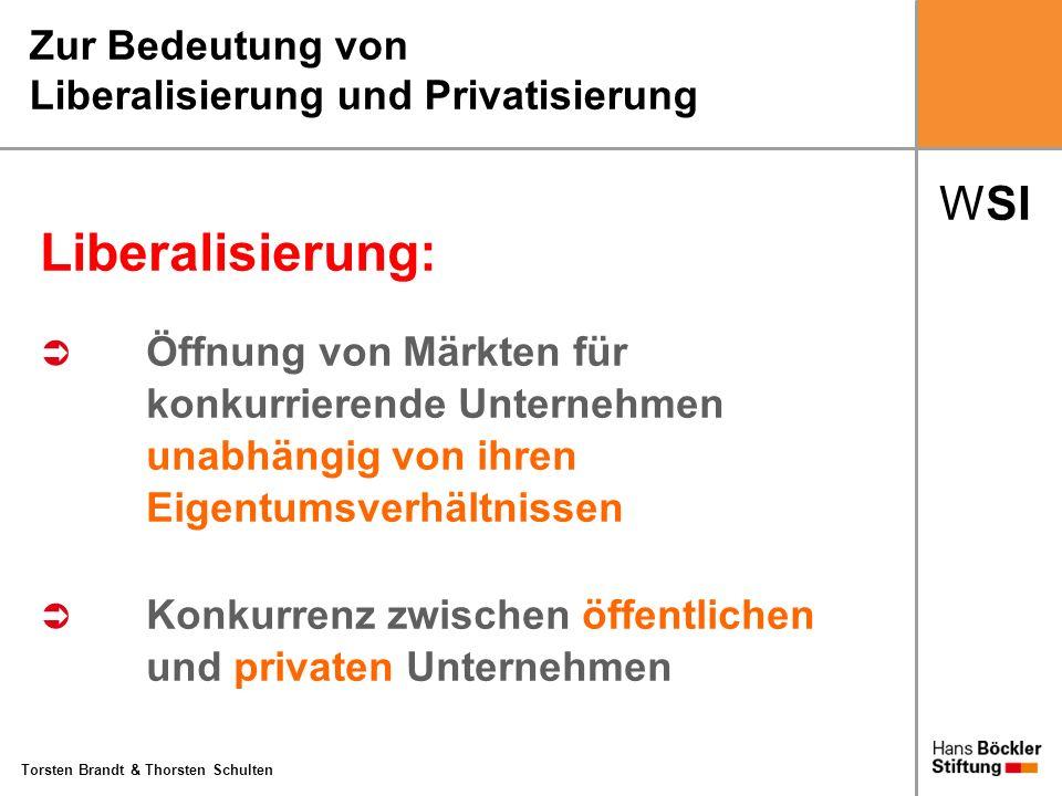 Zur Bedeutung von Liberalisierung und Privatisierung