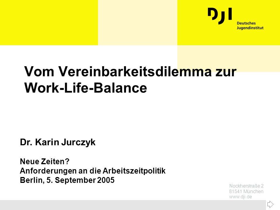 Vom Vereinbarkeitsdilemma zur Work-Life-Balance