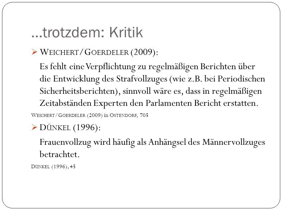 …trotzdem: Kritik Weichert/Goerdeler (2009):