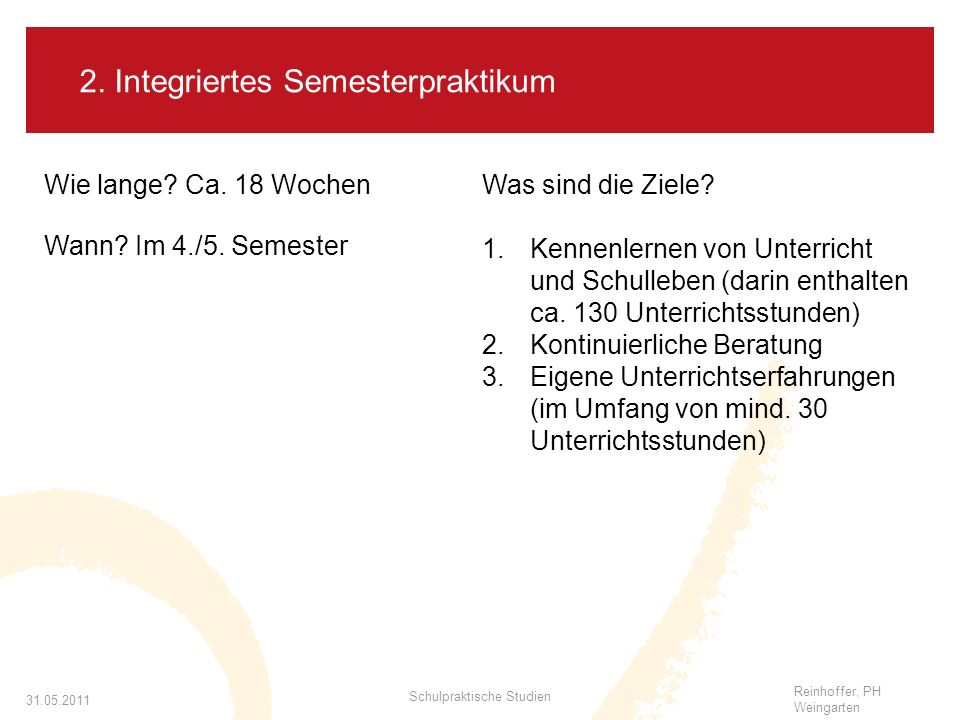 2. Integriertes Semesterpraktikum