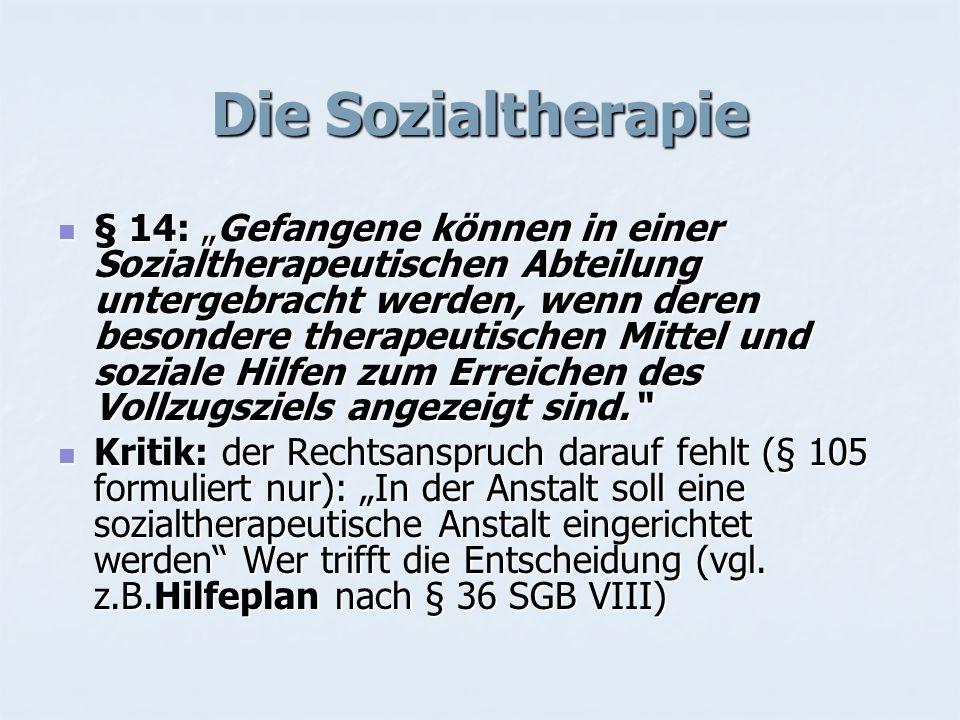 Die Sozialtherapie