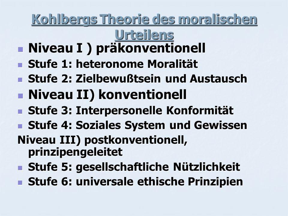 Kohlbergs Theorie des moralischen Urteilens