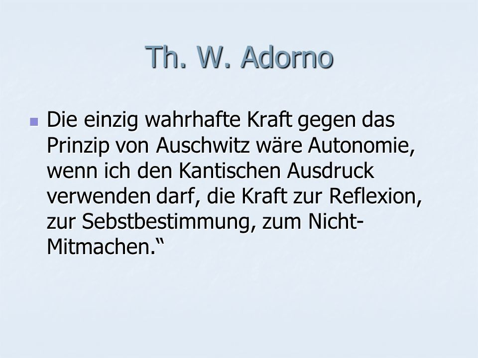 Th. W. Adorno