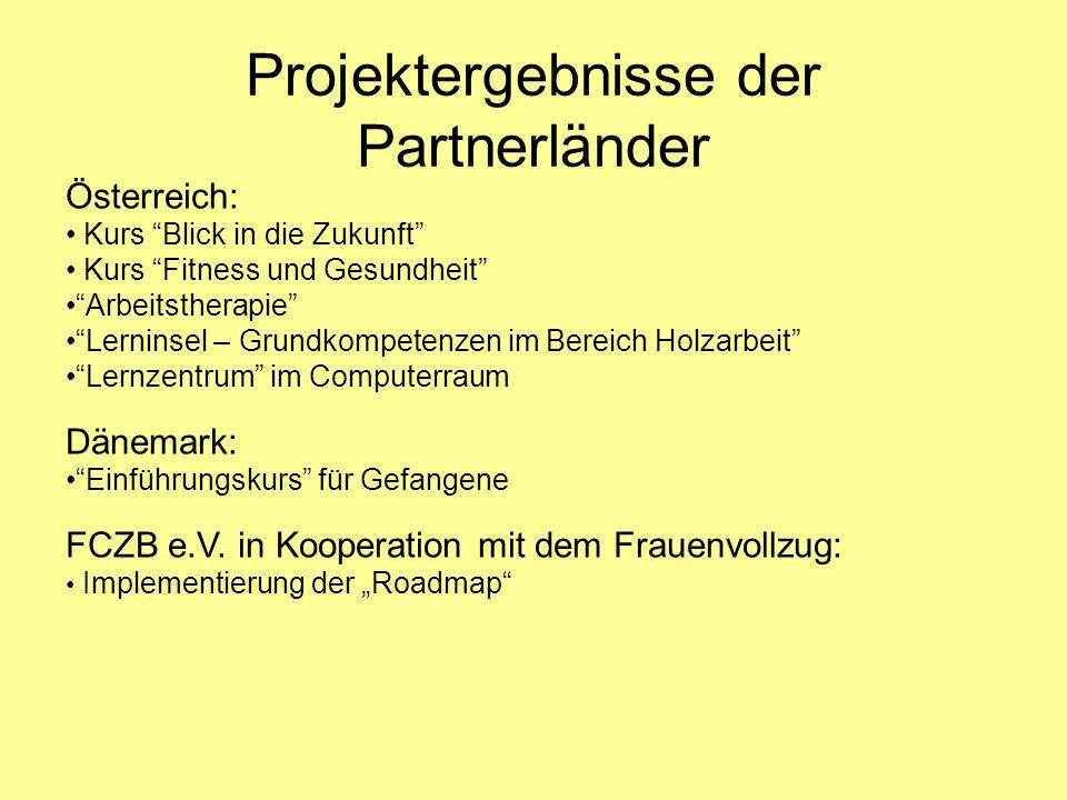 Projektergebnisse der Partnerländer