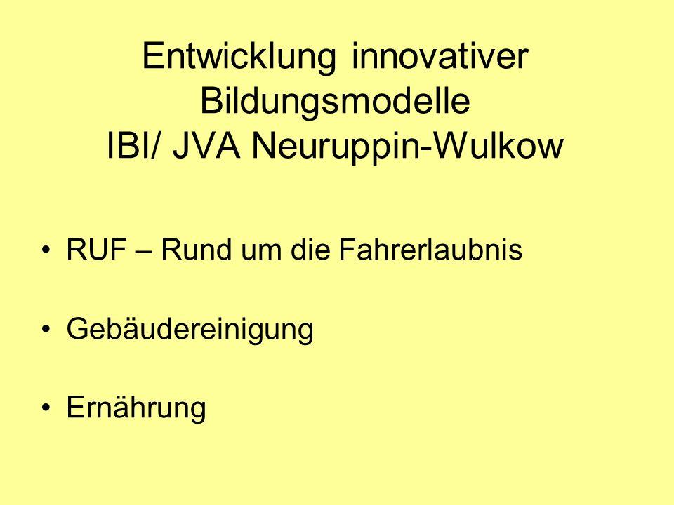 Entwicklung innovativer Bildungsmodelle IBI/ JVA Neuruppin-Wulkow