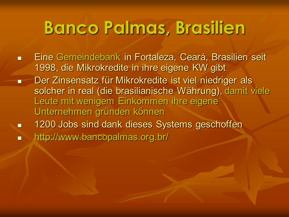 Banco Palmas, Brasilien