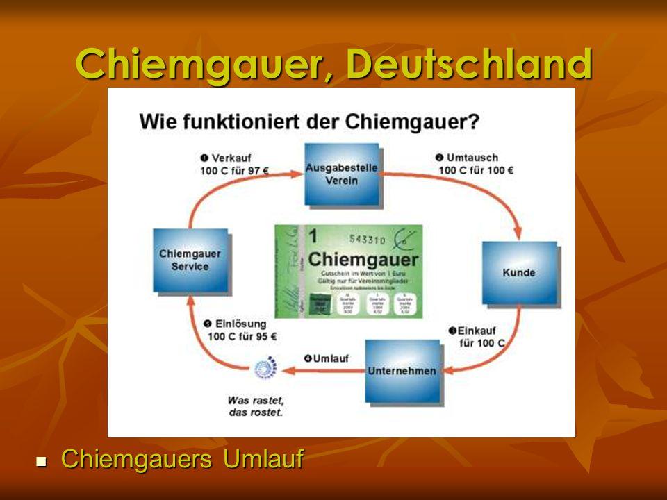 Chiemgauer, Deutschland