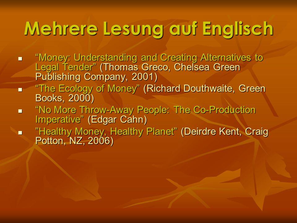 Mehrere Lesung auf Englisch