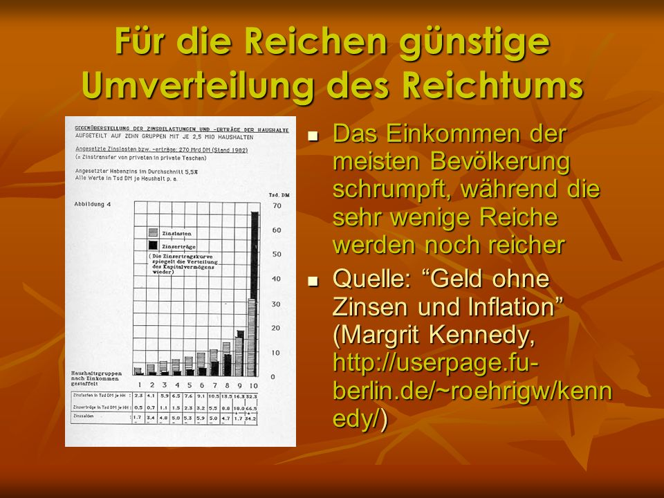 Für die Reichen günstige Umverteilung des Reichtums