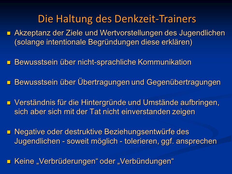 Die Haltung des Denkzeit-Trainers